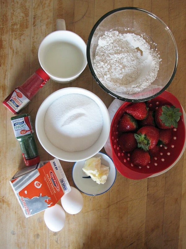 Japanese Christmas cake ingredients