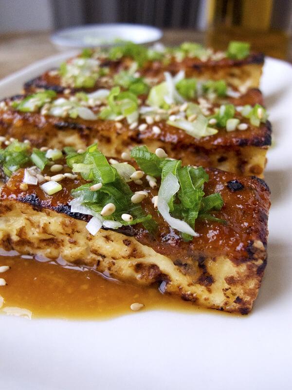 tofu dengaku - tofu miso glaze