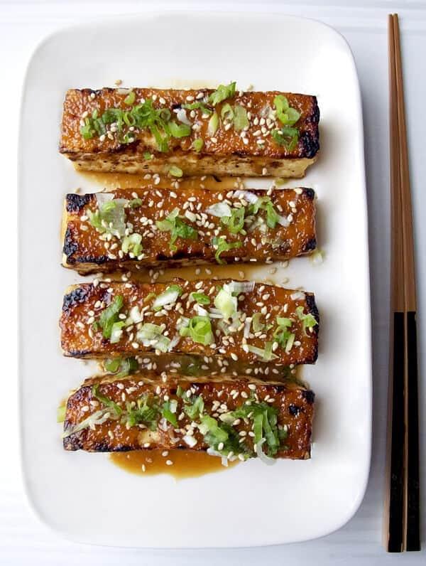 vegan tofu miso dengaku
