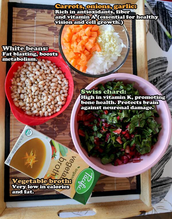 bean soup ingredients writing