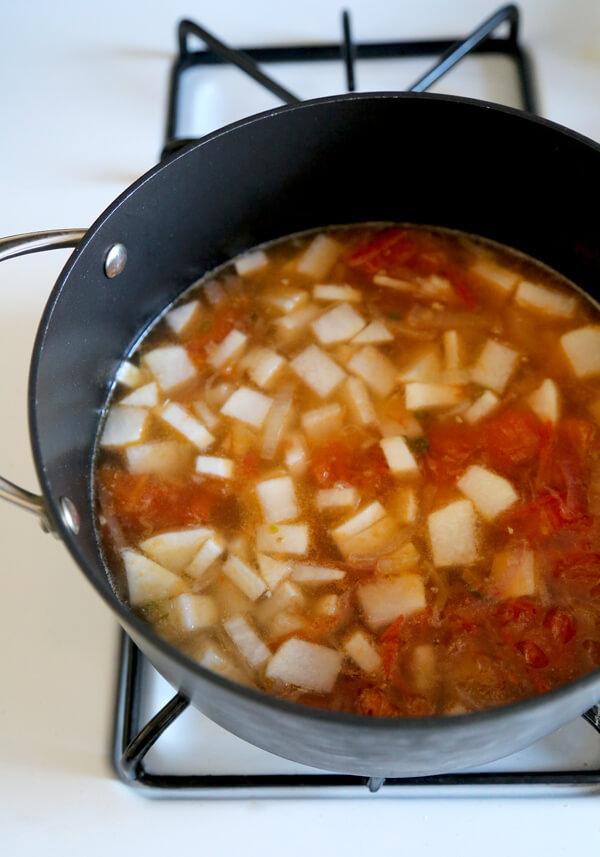 daikon tomatoes