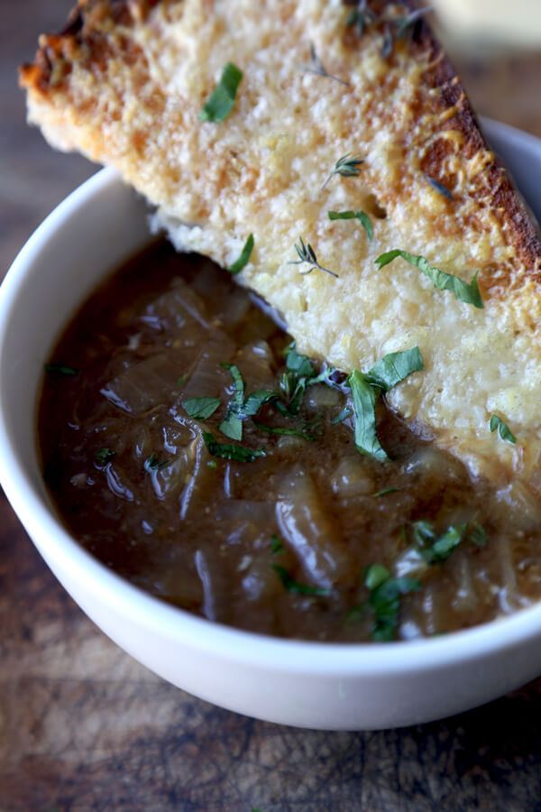 french onion soup with miso