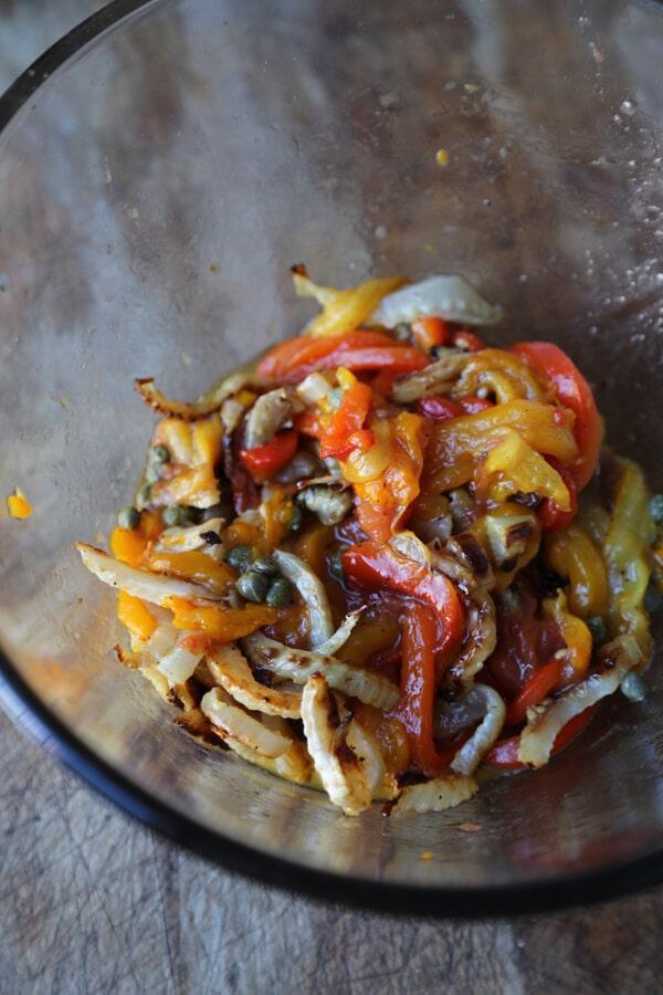 pepper salad in bowl