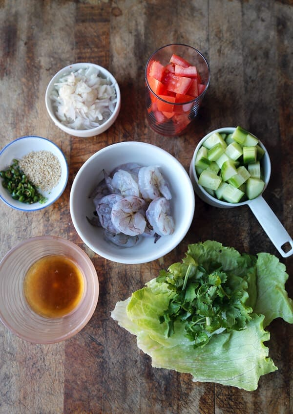 shrimp salad ingredients