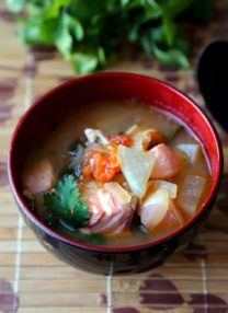 Salmon sinigang - Filipino sour soup