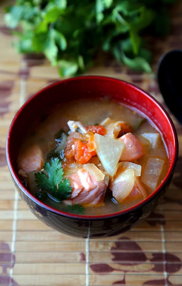 Sinigang Recipe Salmon Na Sinigang Pickled Plum Food And Drinks