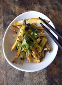 Smoked Tofu with Asian Celery