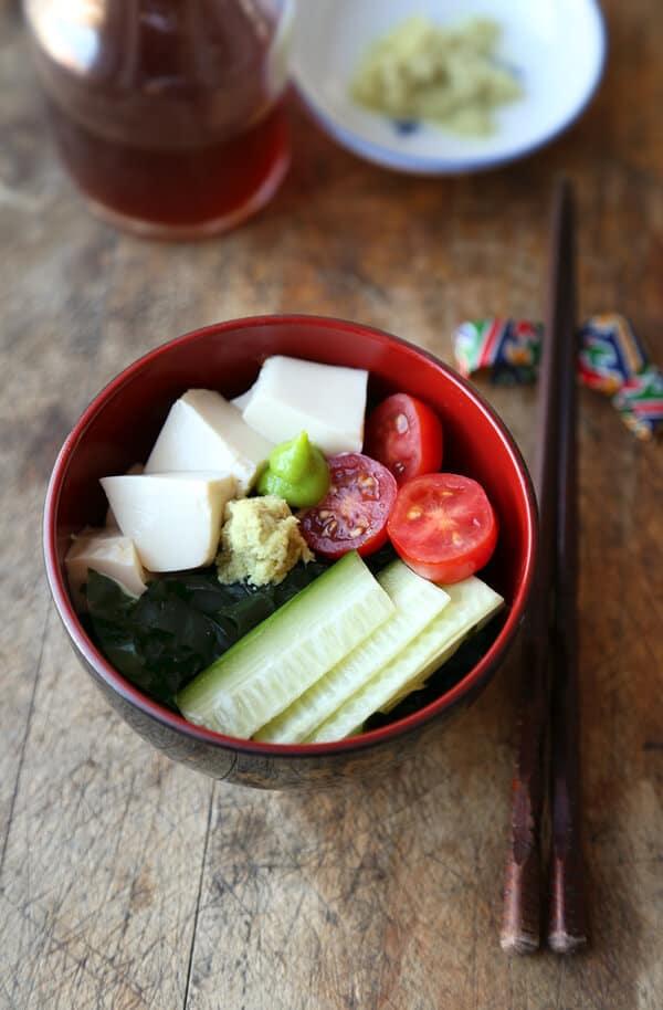 Seaweed salad - wakame salad