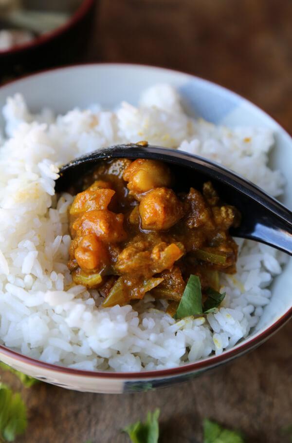 Ground beef curry (kheema)