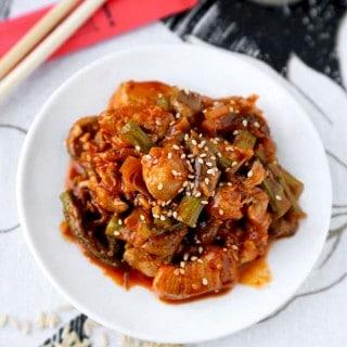 spicy chicken asparagus stir fry