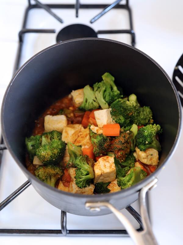 tofu veggies sauce