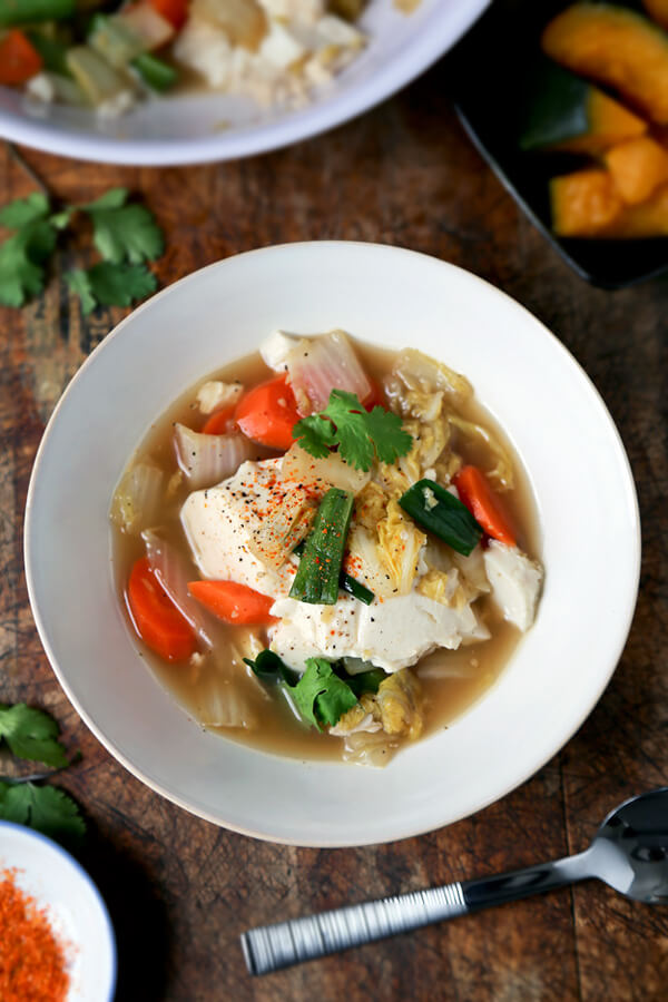 Tofu vegetable soup