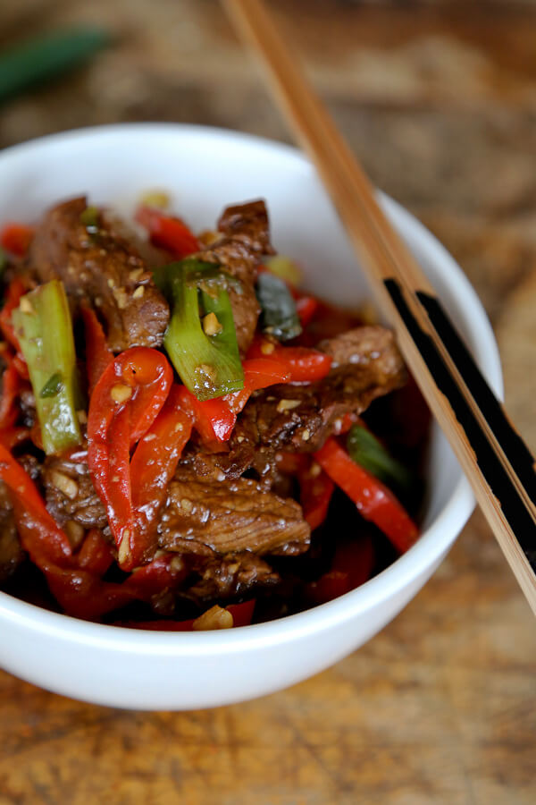 Spicy hoisin beef stir fry