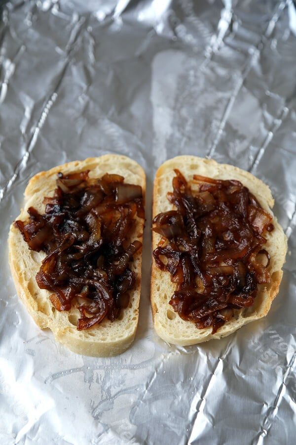 camembert caramelized onion bread
