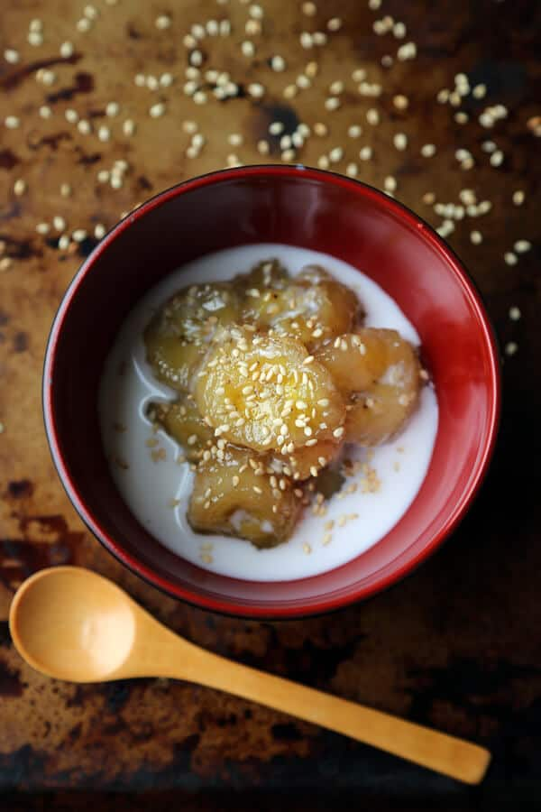 Sweet Bananas with Coconut Milk