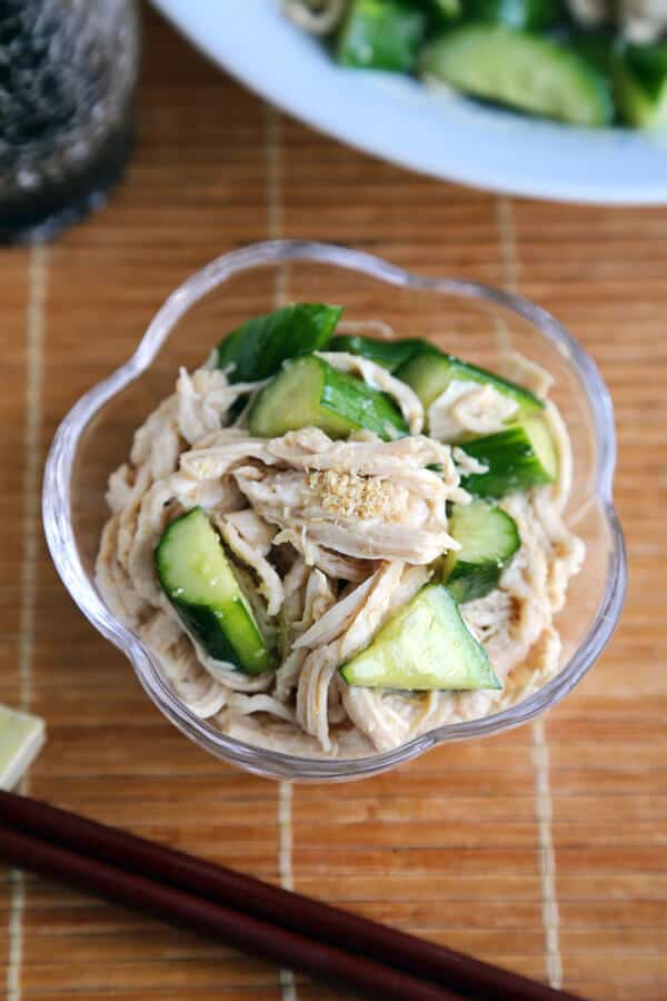 cucumber sesame chicken salad