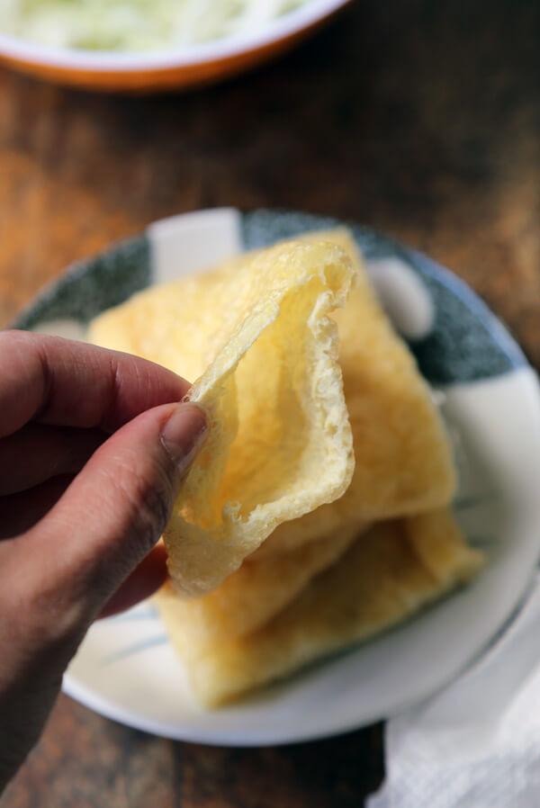 abura-age-sliced