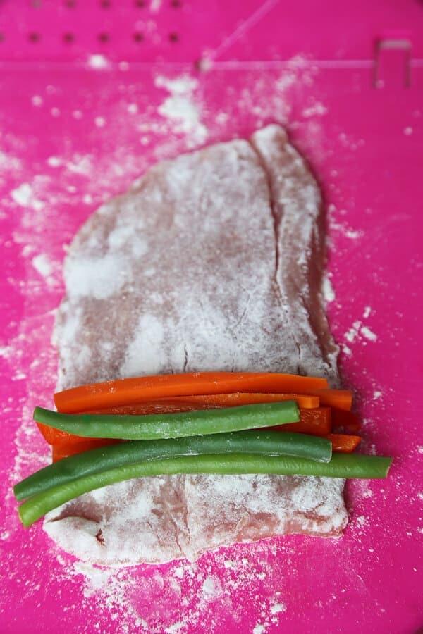 vegetables-on-cutlet