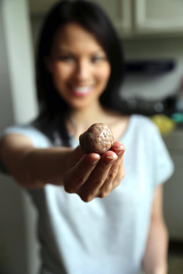 caro-holding-meatball