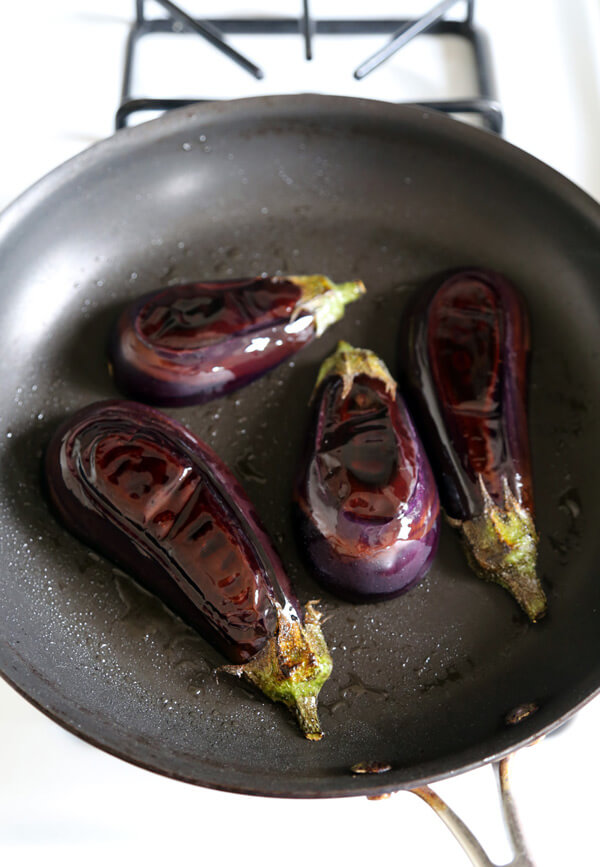 Nasu Dengaku - Miso Glazed Eggplant - Pickled Plum