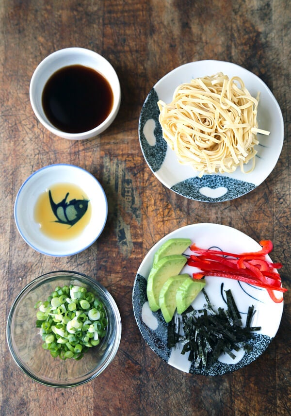 ingredients for ponzu sauce noddles
