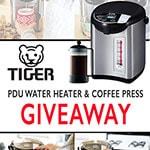 Tiger PDU water heater and French press