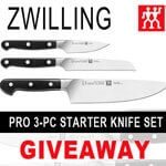 Zwilling 3-pc knife set (CLOSED)