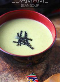 edamame bean soup potage