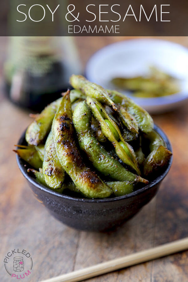Healthy Snack: Soy and Sesame Edamame - Pickled Plum