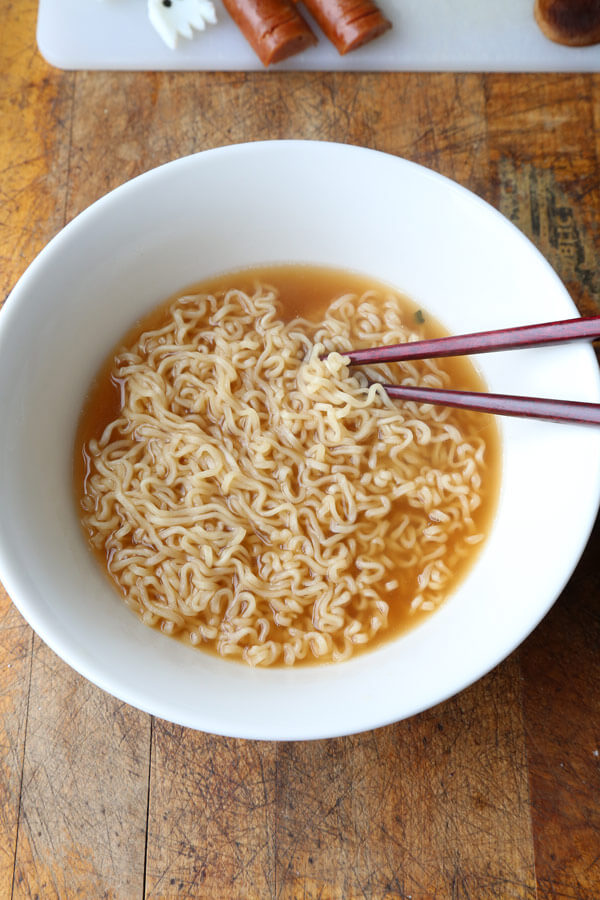 halloween top ramen recipe - pickled plum food and drinks