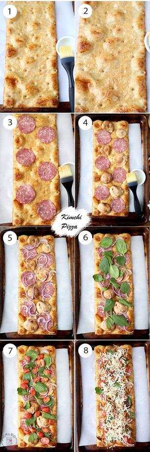 kimchi-pizza-steps