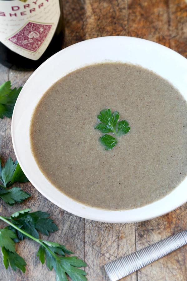 homemade mushroom-soup