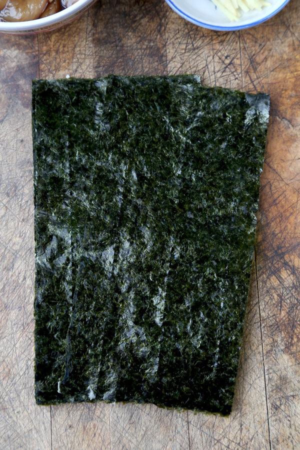 Nori - Japanese dried seaweed