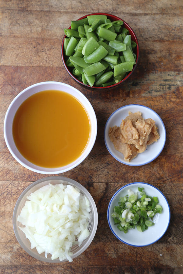Sugar Snap Pea Soup with Miso