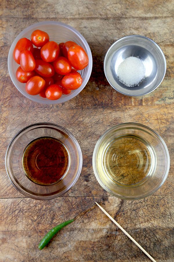 Pickled Cherry Tomatoes (Thai Style)