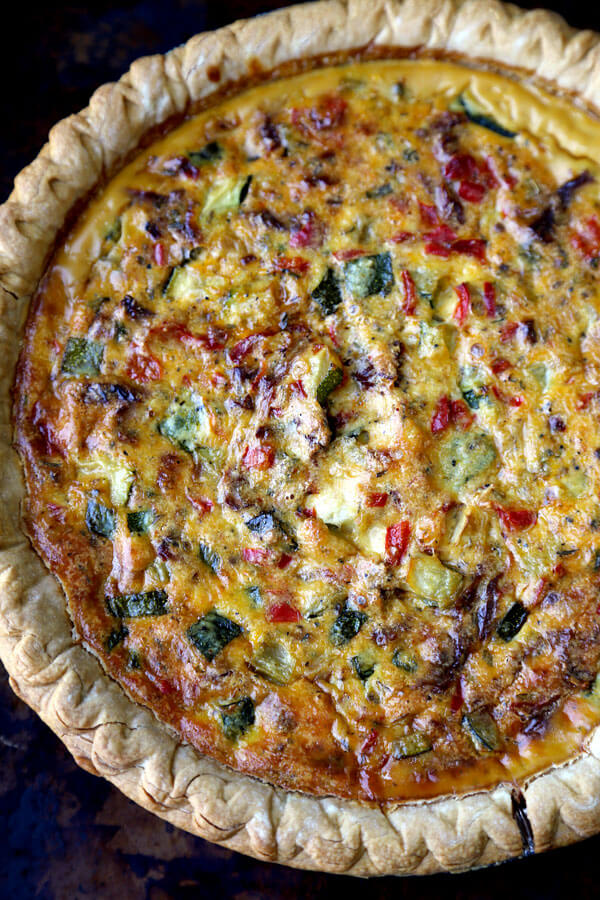 Vegetable Ricotta Pie Recipe