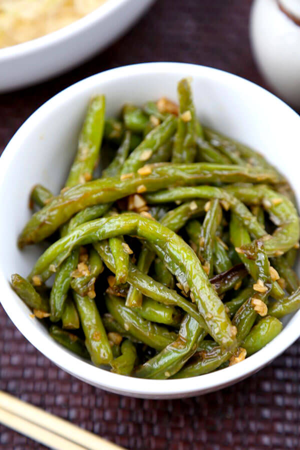 Dry Fried Green Beans With Garlic Sauce Pickled Plum Food And Drinks