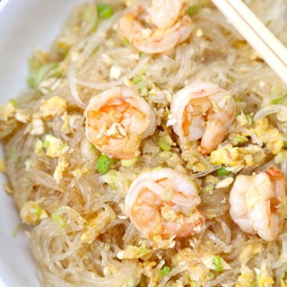Stir Fried Glass Noodles With Shrimp Pickled Plum Food And Drinks