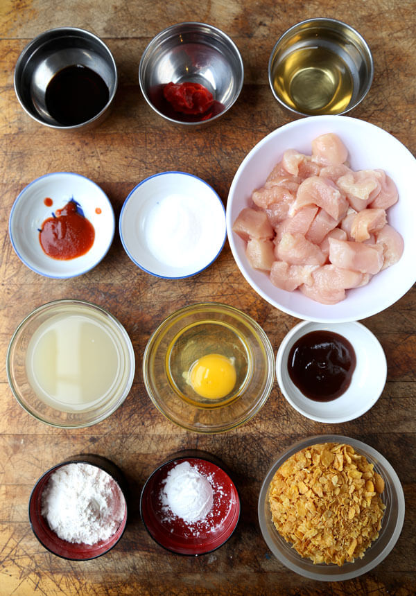 General tso chicken ingredients | pickledplum.com