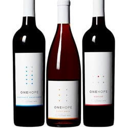 FOR THE WINE LOVER ONEHOPE California Reds 3 Wine Pack - 2013 Cabernet Sauvignon 750 ml, 2013 Pinot Noir 750 ml, 2013 Merlot 750ml. SHOP