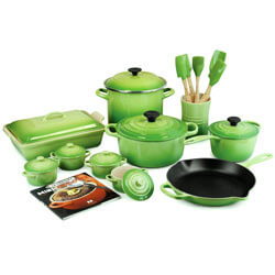 FOR THE HARDWORKING COOK Le Creuset Palm 20-piece Cookware Set - Spoil your home cook with the Cadillac of cookware. SHOP