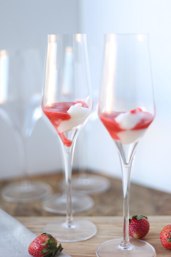 sorbet strawberry glasses