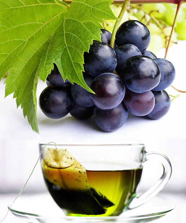 anti aging diet grapes and green tea