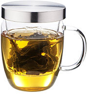 Loose Leaf Infuser - 16 oz BPA-Free Borosilicate Crystal-Clear Glass Mug Allows You to See Your Tea Leaves Slowly Blossom.