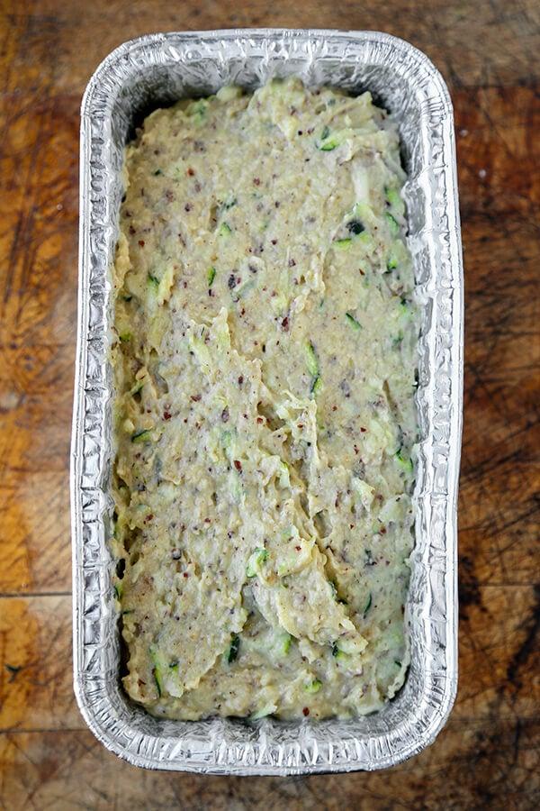 zucchini bread dough
