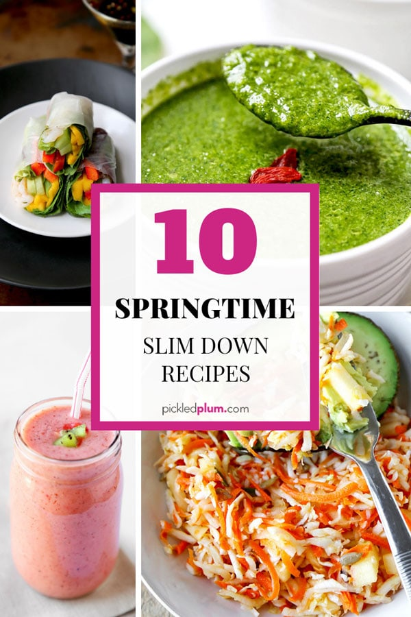 springtime slim down recipes