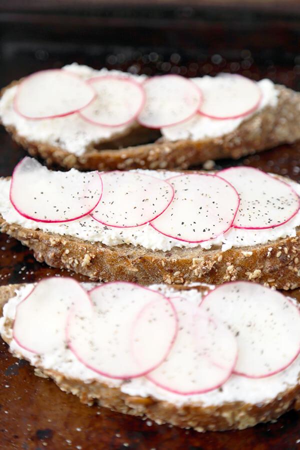 radish-on-toast