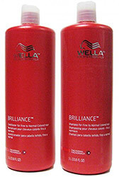 Wella Brilliance Shampoo and Conditioner - weightless with diamond dusk to give your hair shine. Good for color treated hair.
