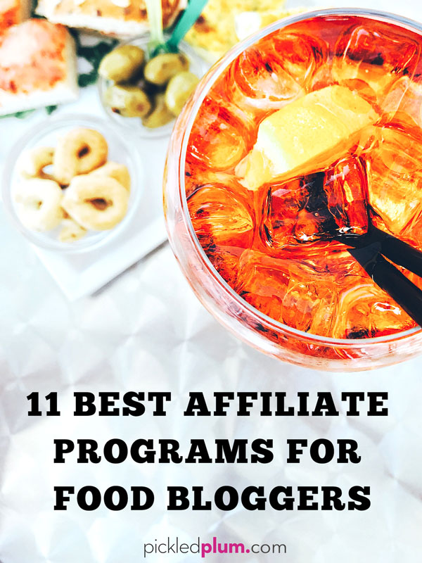 11 Best Affiliate Programs For Food Blogs -Making money online is all about good marketing. Using the right affiliate products and services is the key to financial success. I've been a food blogger for 8 years and these are my favorites ones | Pickled Plum #howtomakemoney #blogging #foodblogger #affiliatemarketing #affiliateprograms