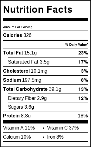 Greek Pasta Salad Nutrition Facts